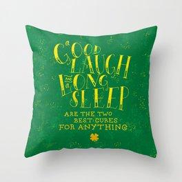 Laugh and Sleep Throw Pillow