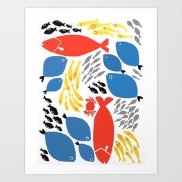 sea pals Art Print