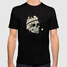 Planet Space Skull  Black MEDIUM Mens Fitted Tee