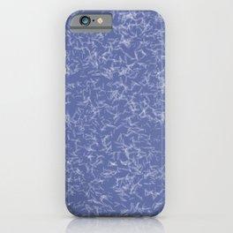 White Quartz Crystal Points on Blue iPhone Case