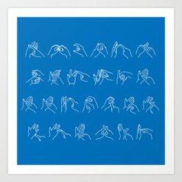 British Sign Language Art Print