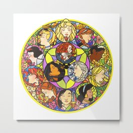 13 Princesses Metal Print