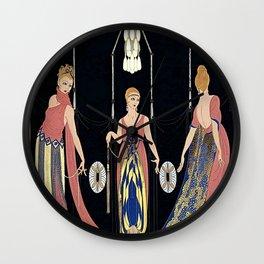 "Art Deco Design ""The Three Graces"" by Erté Wall Clock"