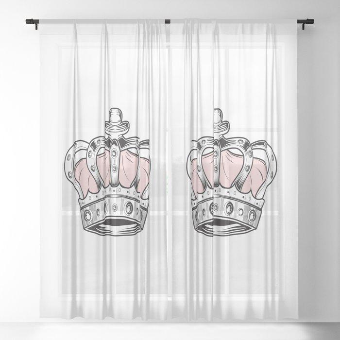 Crown - Pink Sheer Curtain by adamzworld