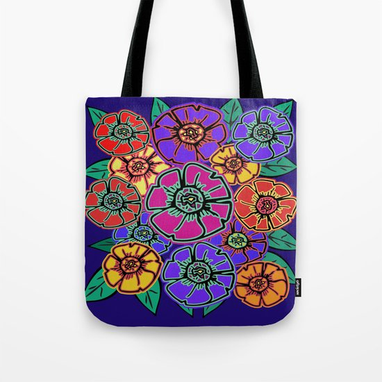 Abstract #462 - Flower Power #13 Tote Bag