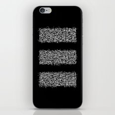 tri black iPhone & iPod Skin