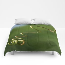 Spring Shaped Passion Flower Tendril  Comforters