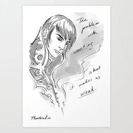 problem with wanting Art Print