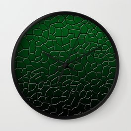 Green Shattered Ground Wall Clock