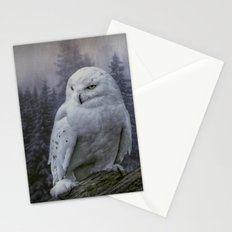 Snowy Owl looking for prey Stationery Cards