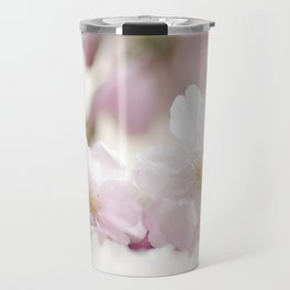 Delicate and fliligrane flowering of the almond tree Travel Mug