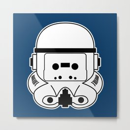 Cassette Trooper Metal Print