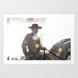 Bokeh rider Art Print