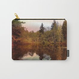 Mirror Pond, Perfect Stillness At Sunset Carry-All Pouch
