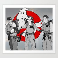 ghostbusters Art Prints featuring ghostbusters by wolfvanhaeren