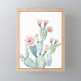 Cactus 2  White #society6 #buyart Framed Mini Art Print