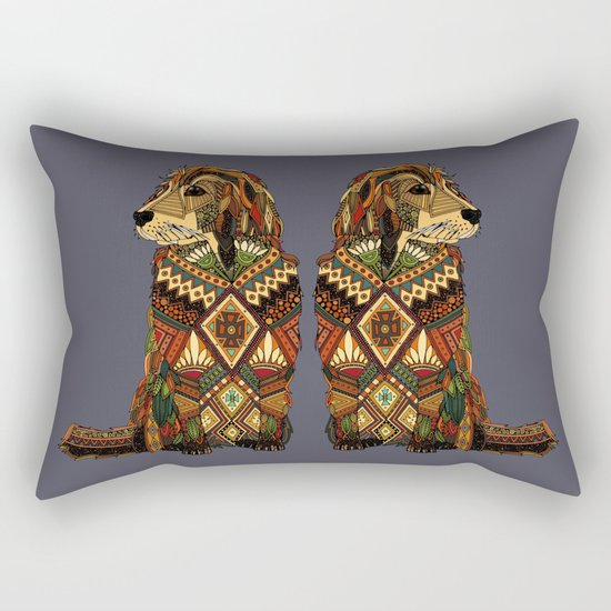 Golden Retriever dusk Rectangular Pillow
