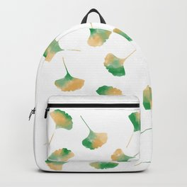 Ginkgo biloba leaves white Backpack