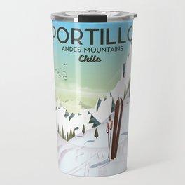 Portillo Ski Chile Ski travel poster. Travel Mug