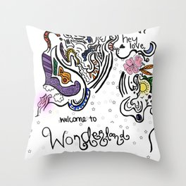 Hey Love Throw Pillow