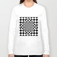 chess Long Sleeve T-shirts featuring Chess Board by Cs025
