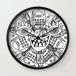 Zero Bars Wall Clock