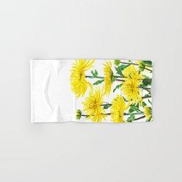 Yellow Chrysanthemums Hand & Bath Towel