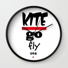 Kite - Go Fly One Polite Insults Wall Clock