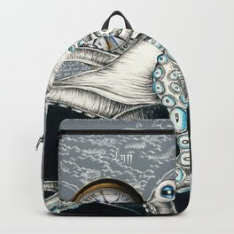 Octopus Compass Grey Ink Backpack