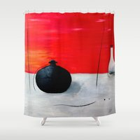 asia Shower Curtains featuring Asia design by LoRo  Art & Pictures