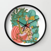 perfume Wall Clocks featuring Perfume by József Vass