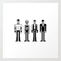 misfits Art Prints featuring Misfits by Band Land