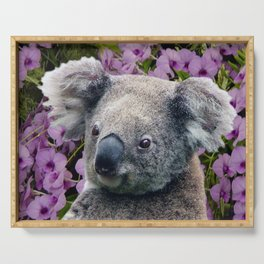 Koala and Orchids Serving Tray