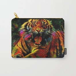 Dark Hipster Tiger (Wildlife Roar and Colorful) Carry-All Pouch