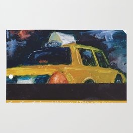 Subway Card NYC Taxi Painting Rug