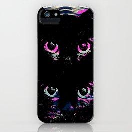Black Cat Rising iPhone Case