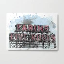 Farine Five Roses - Griffintown Metal Print