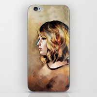 jennifer lawrence iPhone & iPod Skins featuring Lawrence by Meder Taab