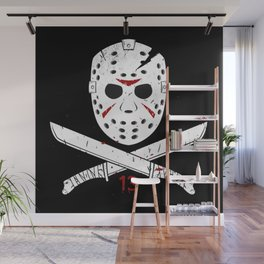 Jason mask Wall Mural