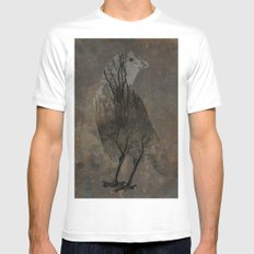 Inside Crow Mens Fitted Tee White MEDIUM