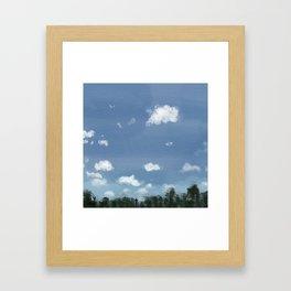 Labor Day Skies Framed Art Print