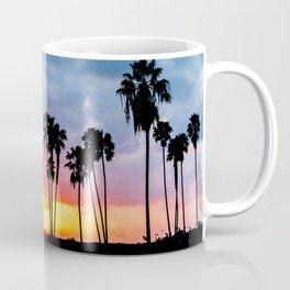 California Palm Tree Sunset (blue, pink, orange) Coffee Mug