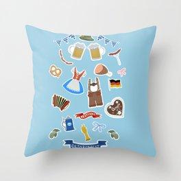 Oktoberfest icons Throw Pillow