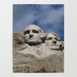George Washington And Thomas Jefferson  - Mount Rushmore Poster