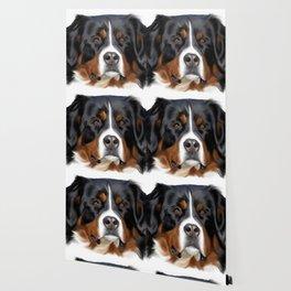 BERNESE MOUNTAIN DOG ART Wallpaper