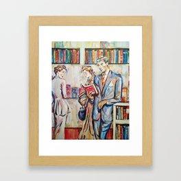 Vintage boy Framed Art Print