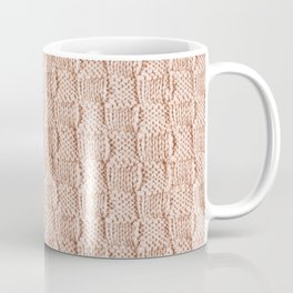 Ecru Knit Textured Pattern Coffee Mug
