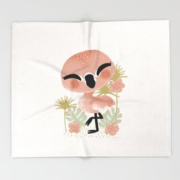 "The ""Animignons"" - the Flamingo Throw Blanket"