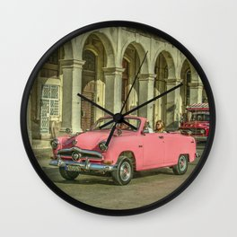 Pink Crestliner Wall Clock