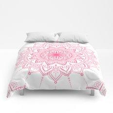 Rosy Mandala Comforters